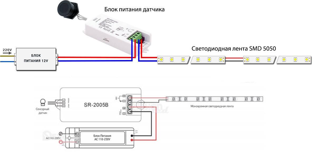Схемы подключения светодиодных лент к сети 220 в и способы соединения лент между собой