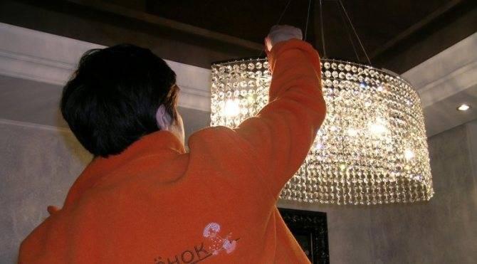Как почистить хрустальную люстру в домашних условиях