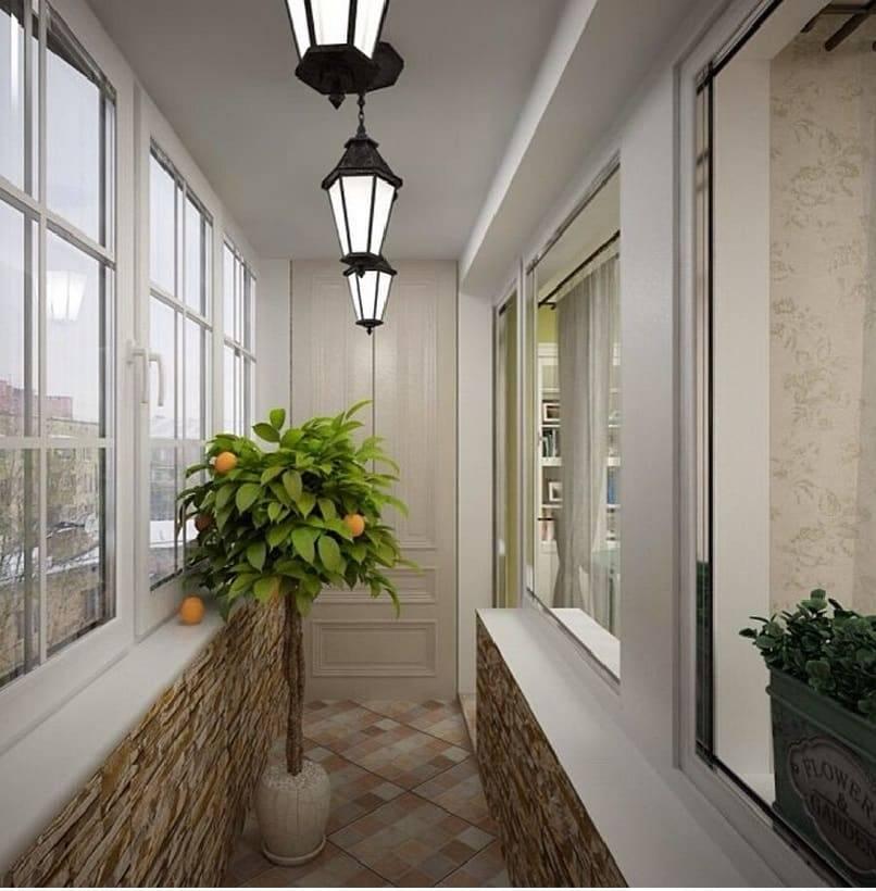 Освещение на балконе: выбор светильников и правила монтажа + фото идеи