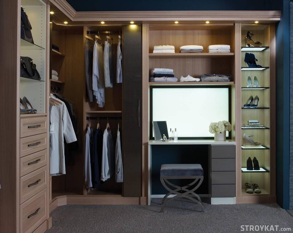 Гардеробная в спальне (100 фото): новинки дизайна + примеры практичного размещения гардероба