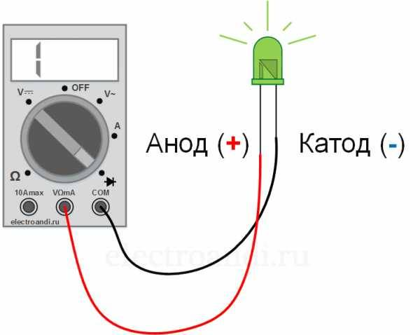Как проверить диод мультиметром не выпаивая