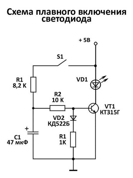 Блок защиты для светодиодных ламп 220в