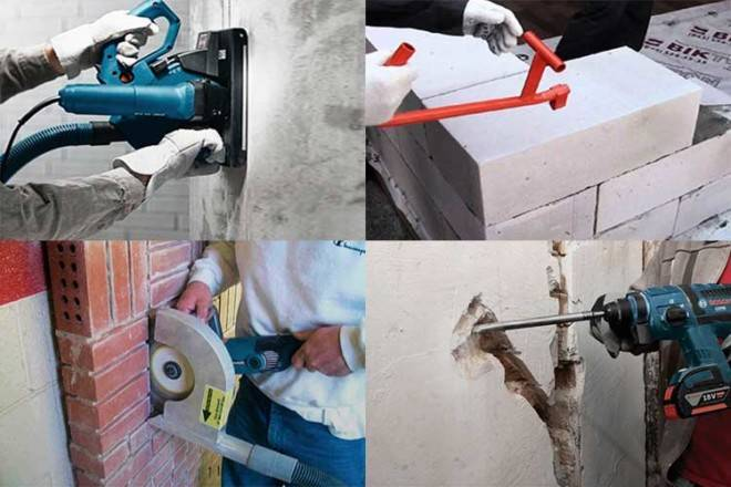 Как проштробить стену под проводку своими руками правильно без пыли: несущих стен, канавка для кабеля по снип, разметка линии, размер, сколько глубина см, ширина в кирпиче, толщина, перфоратором, зубилом, сверлом