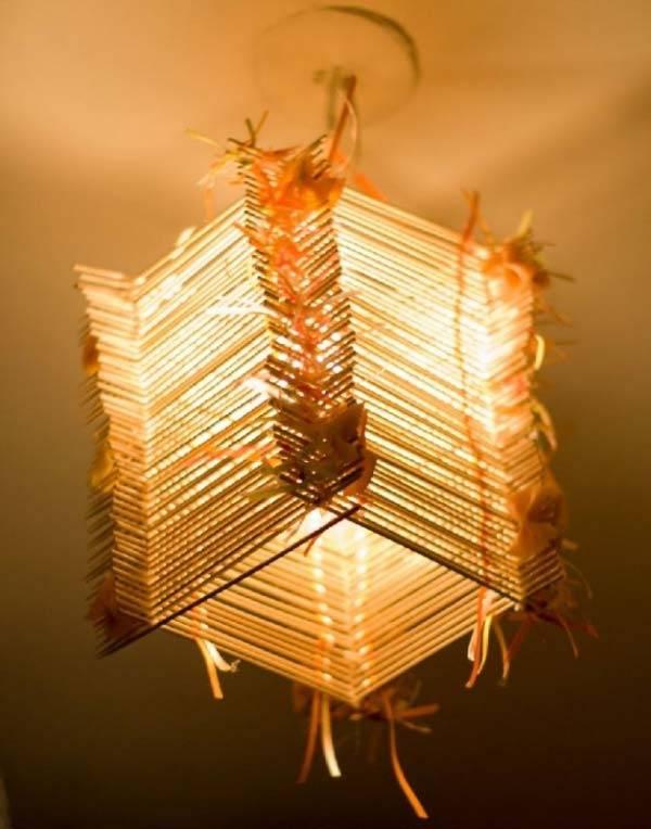 Оригинальные люстры своими руками: идеи осветительных приборов, подробные инструкции с фото