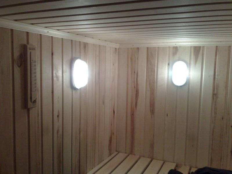 Можно ли использовать светодиоды в сауне? как правильно освещать баню