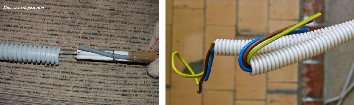 Прокладка кабеля в гофре - ошибки и правила когда гофра экономит затраты, характеристики, подбор диаметра, тип гофрорукава