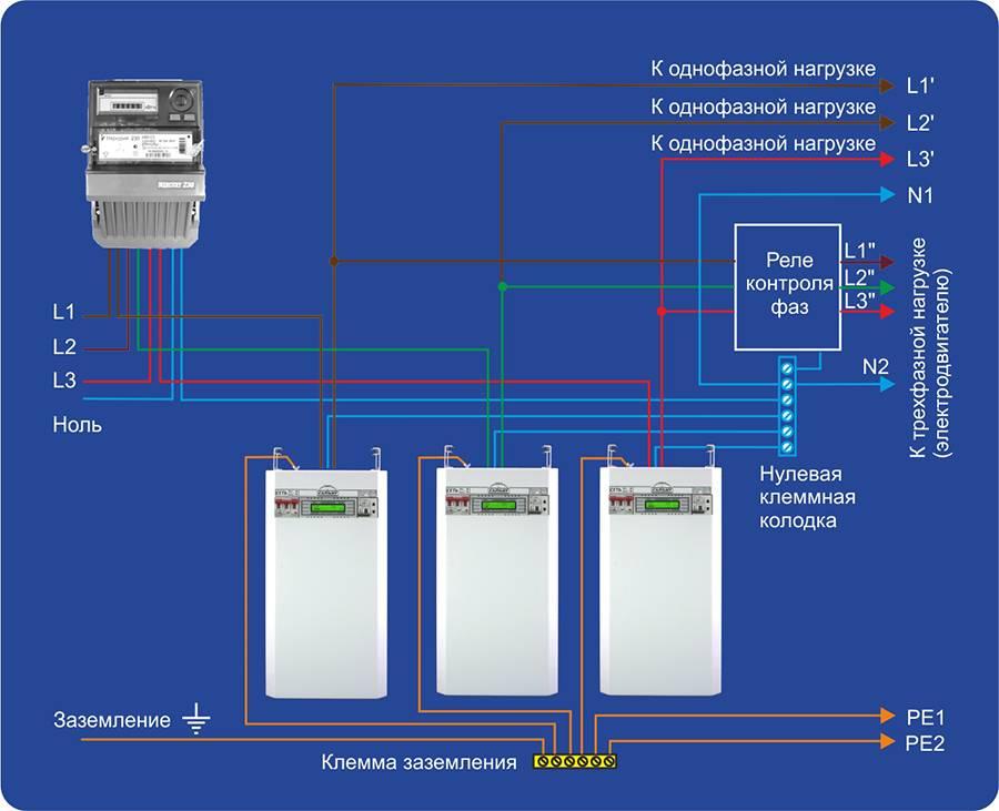 Как подключить стабилизатор напряжения однофазный - все про электрику