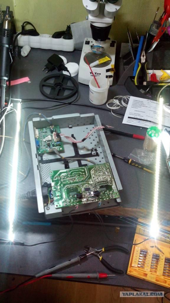 Меняем лампы подсветки монитора (сами) / хабр