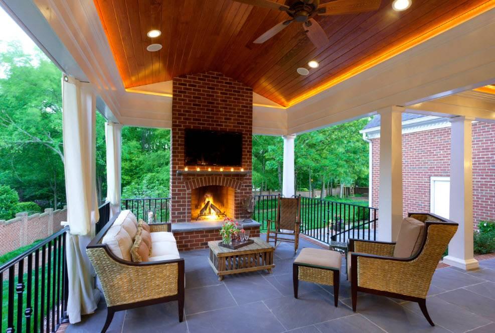 Проекты веранд пристроенных к дому: конструкции, материалы, рекомендации