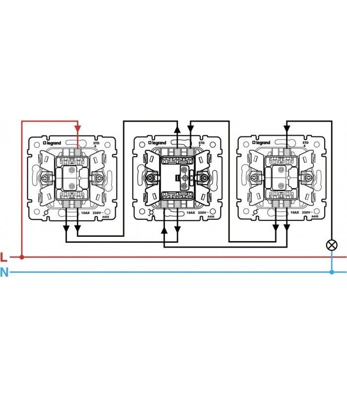 Выключатель legrand как подключить одноклавишный с подсветкой