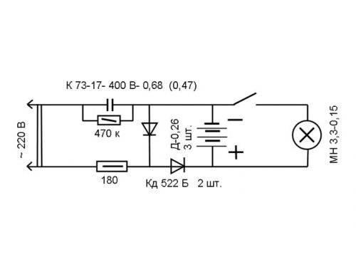 Светодиодный фонарь своими руками - порядок и схема сборки