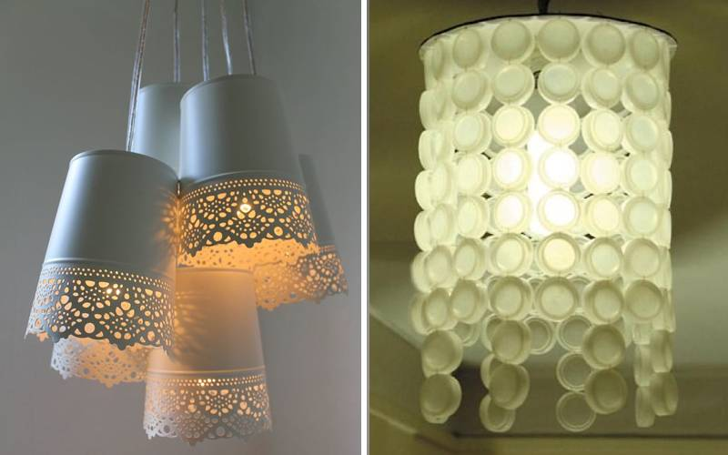 Идеи светильников своими руками — пошаговая инструкция как и из чего изготовить стильные лампы освещения (100 фото)