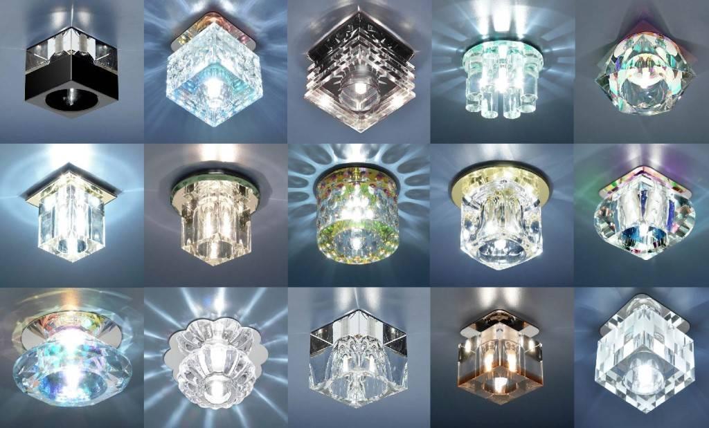 Светильники для натяжных потолков светодиодные: точечные потолочные светильники, встроенные, какие выбрать, диодные встраиваемые led светильники для освещения