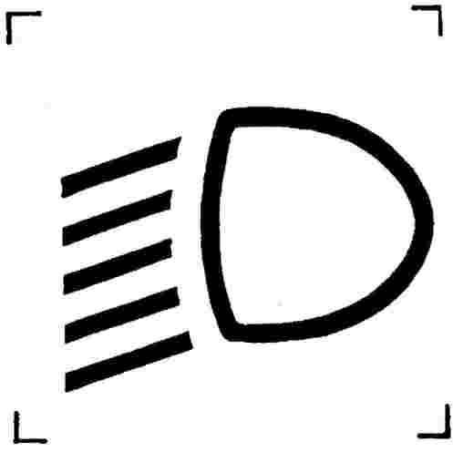 Значок противотуманных фар, ближнего света, габаритных огней