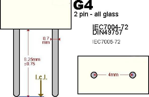 Цоколь g4: виды ламп, размеры, область применения