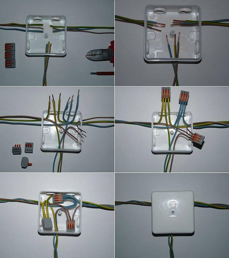 Соединение проводов в распределительной коробке: изучаем способы соединения проводов