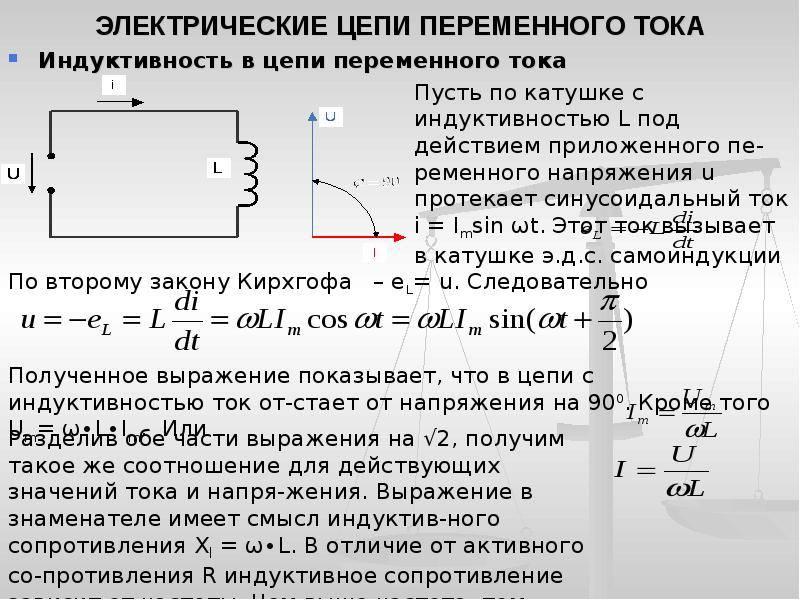Электрические цепи переменного тока