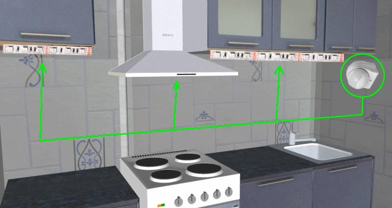 Создание автоматического освещения на кухне — инструкции и схемы