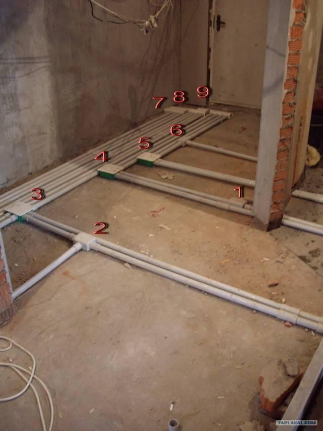 Проводка по полу: видео-инструкция по монтажу своими руками, особенности электропроводки, как спрятать, фото
