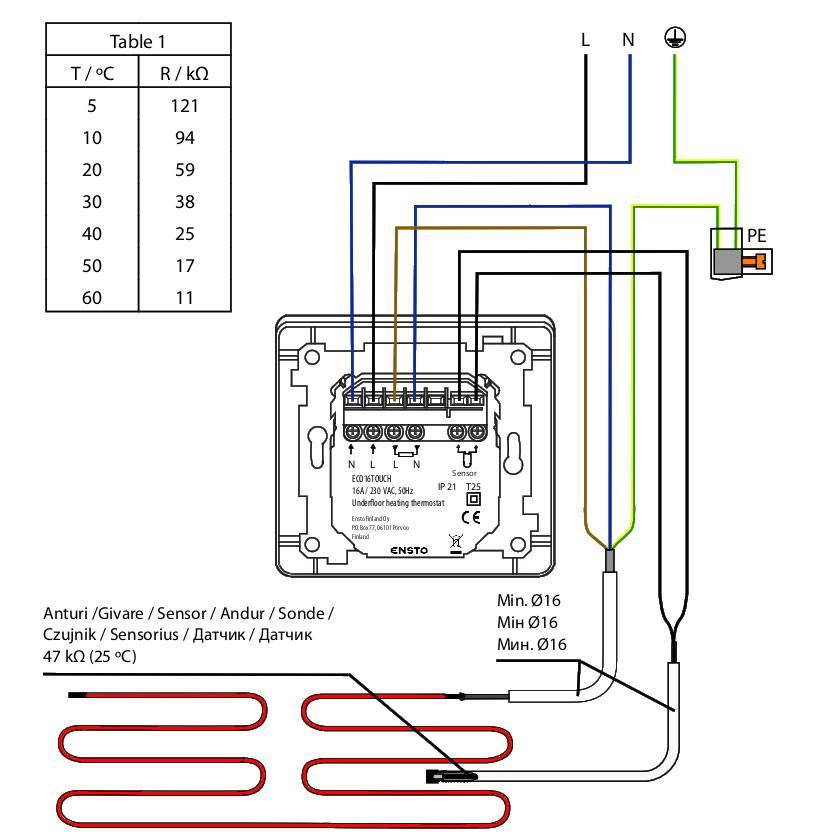 Схема подключения теплого пола, как своими руками сделать монтаж, фотографии и видео