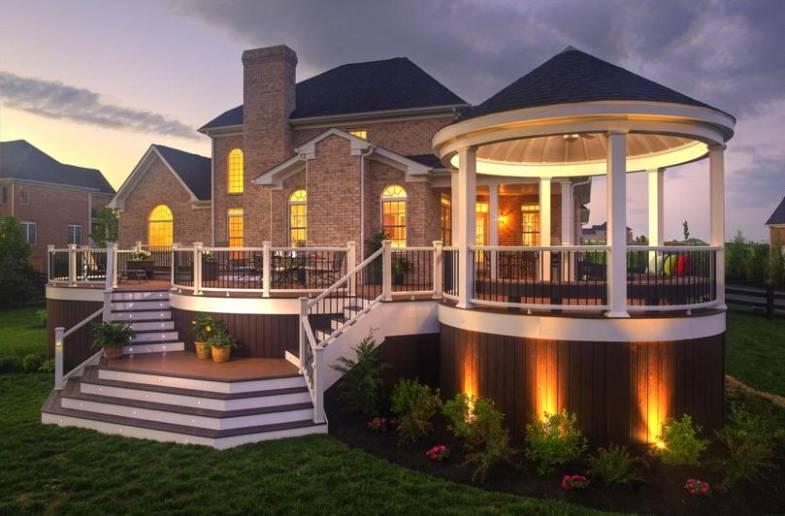 Как сделать красивое освещения для своей террасы