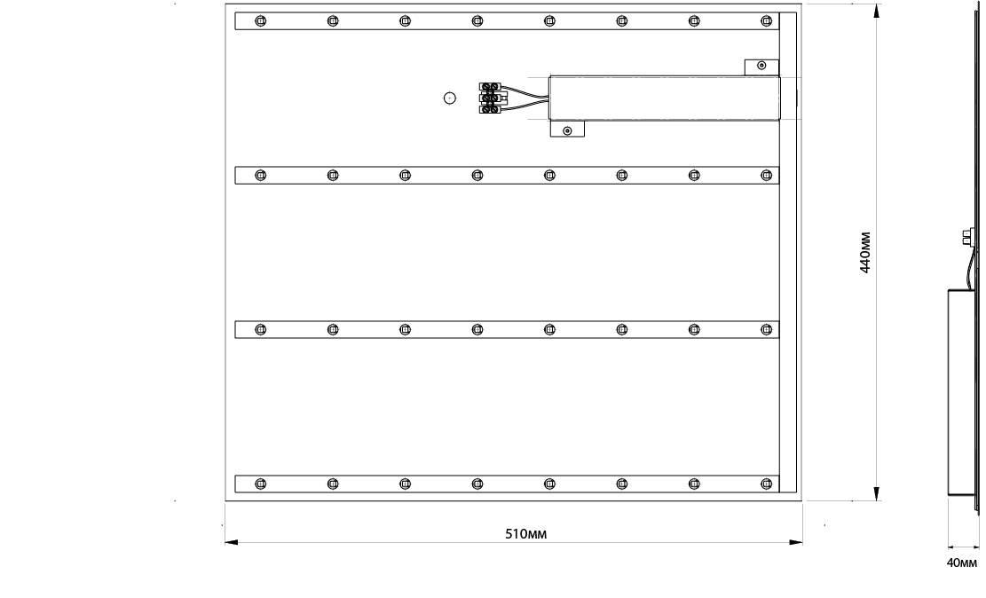 Встраиваемые светильники для потолка типа армстронг