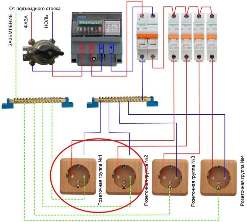 Схема подключения электрического счетчика меркурий - tokzamer.ru