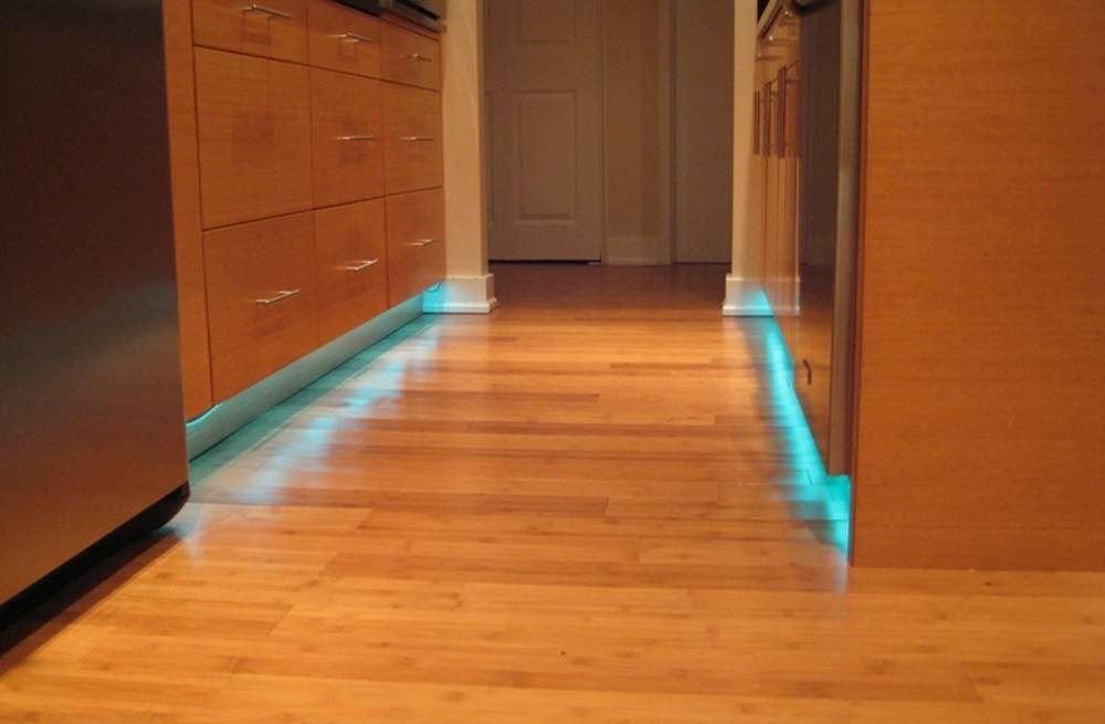 Плинтус с подсветкой - требования, изготовление своими руками