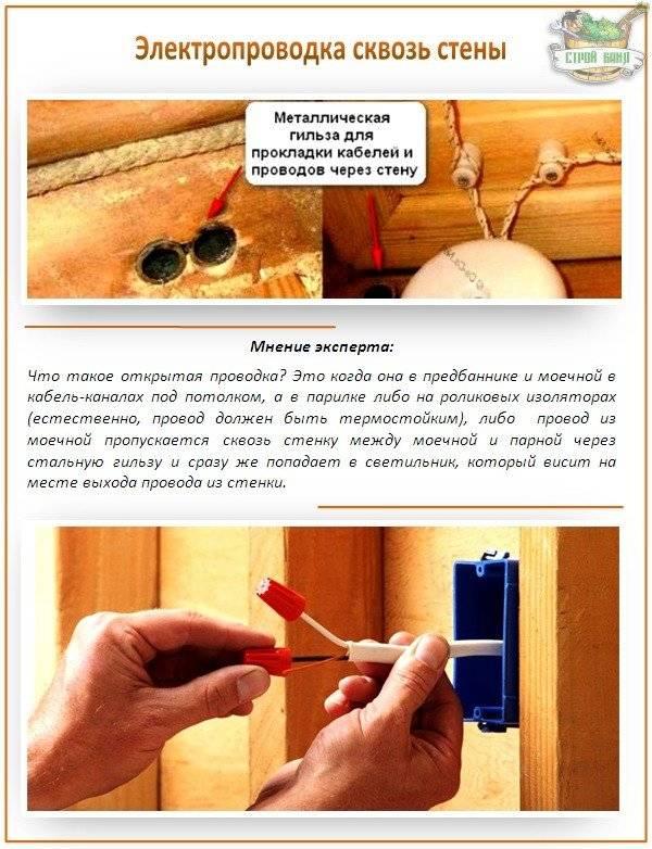 Какой провод лучше использовать для проводки в бане: термостойкий для сауны, жаростойкий в парилке, кабель освещения в баню