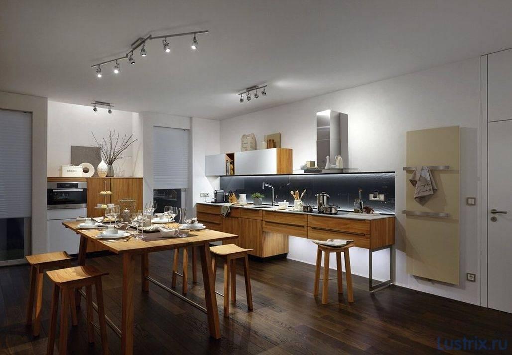 Трековые светильники на кухне: особенности конструкции и критерии выбора