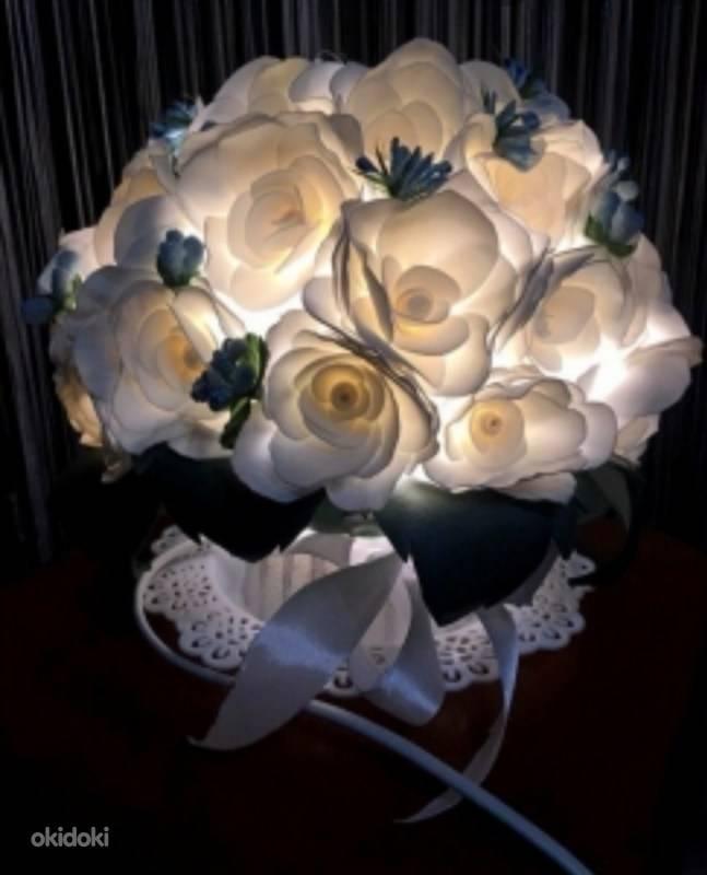 Светильник из изолона (в форме цветка, торшера, ночника или ростовой лампы)