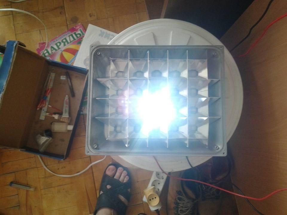 Установка уличного светодиодного прожектора своими руками