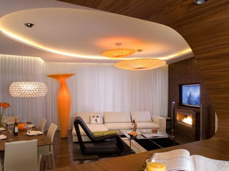 Освещение натяжных потолков: варианты света в комнате с натяжным потолком, примеры дизайна потолочного освещения в зале, как сделать свет