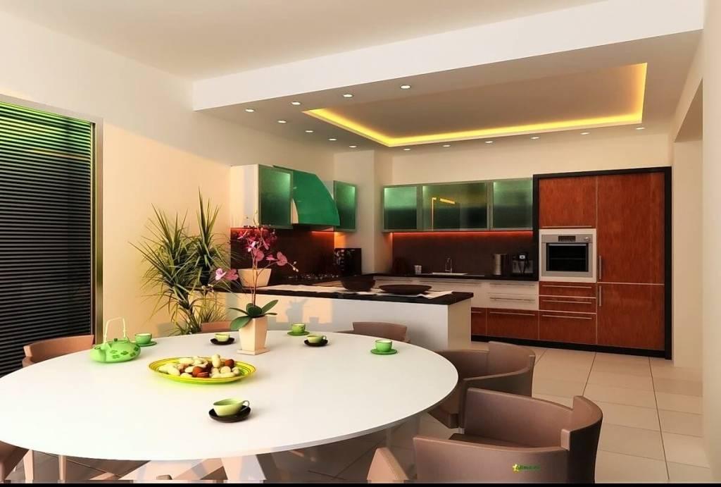 Освещение в кухне-гостиной: 40 фото, варианты расположения