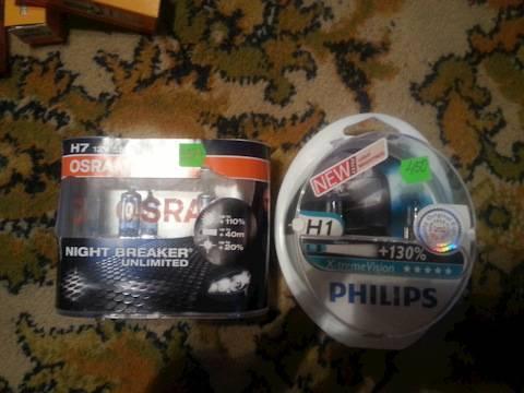 Н4 какие выбрать. сравнение osram night breaker и philips x-treme vision