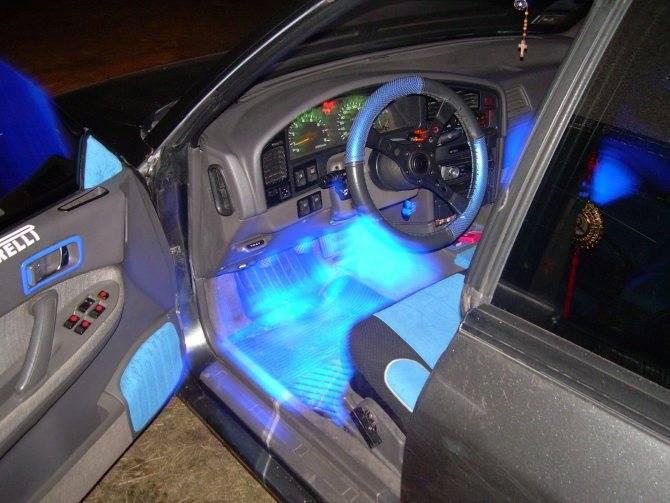 Правильная установка светодиодной ленты на автомобиль