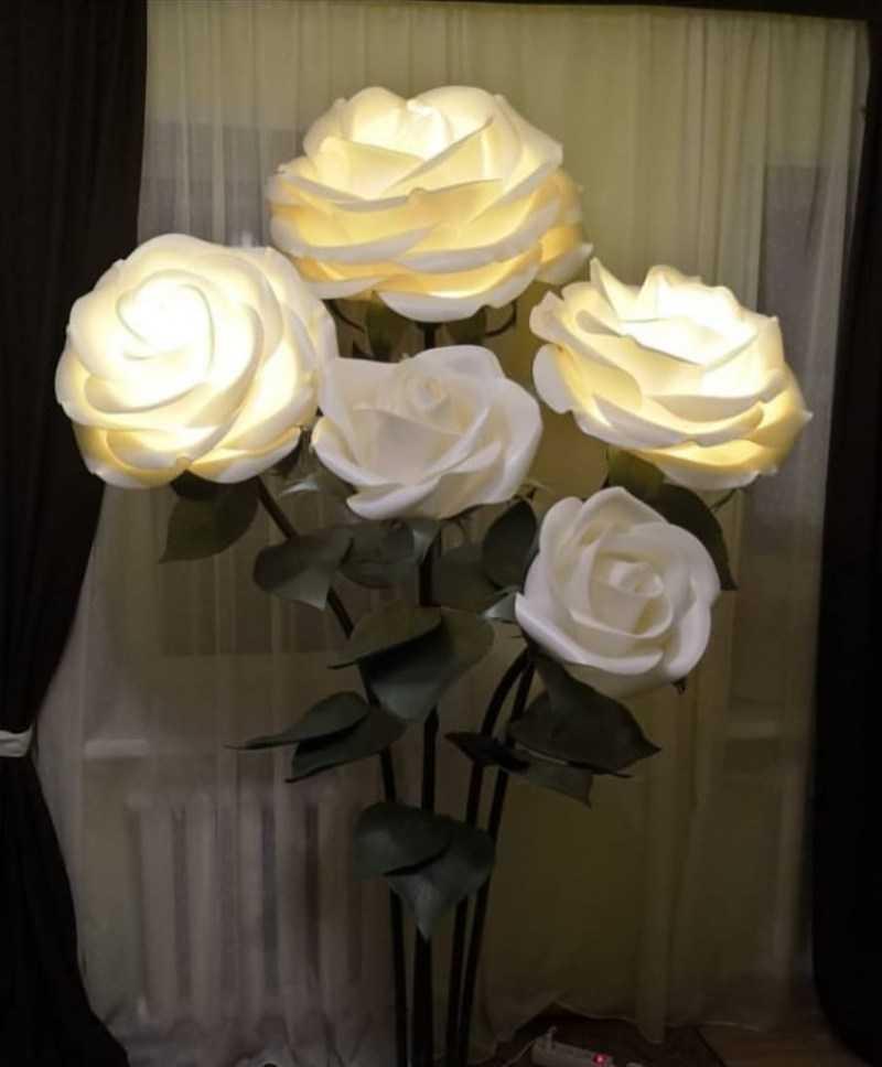 Светильник роза из изолона своими руками: мастер класс с фото