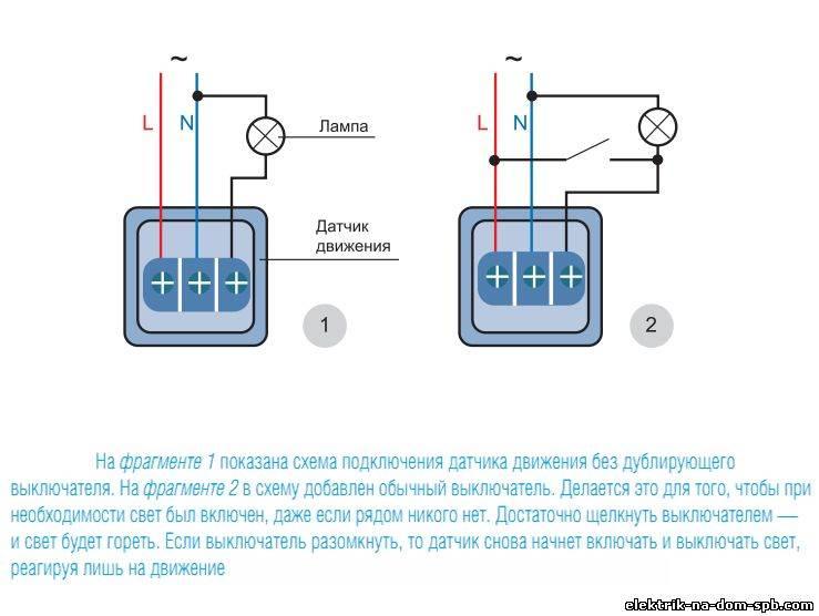 Как установить и подключить датчик движения для включения света