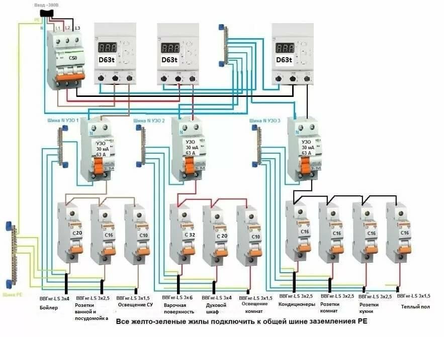 Установка узо: для чего нужен, схема подключения в трехфазную и однофазную сеть с заземлением и без своими руками + видео установка узо: для чего нужен, схема подключения в трехфазную и однофазную сеть с заземлением и без своими руками + видео