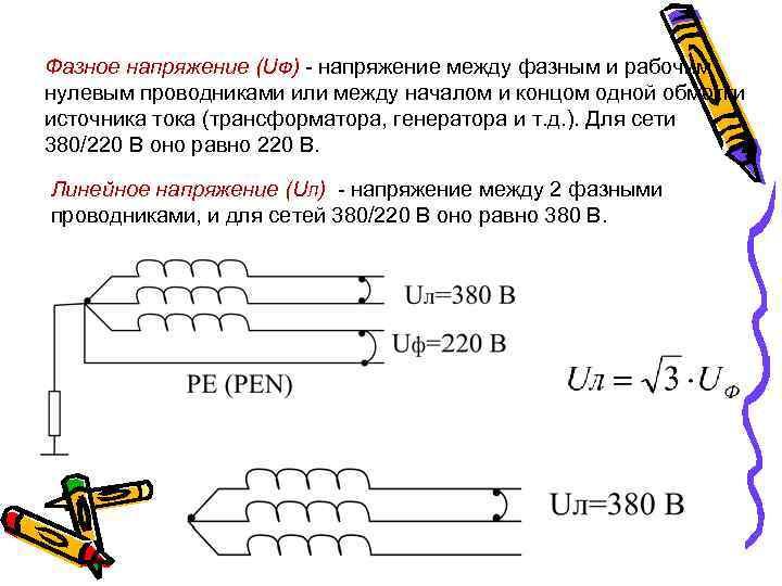 Линейное и фазное напряжение: что это такое и чем они отличаются