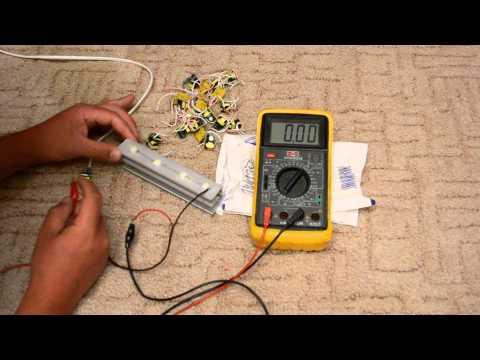 Проверка (прозвонка) светодиода мультиметром. как проверить светодиодную лампочку