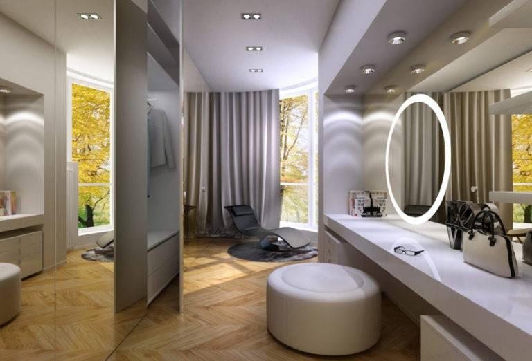 Освещение в гардеробной: правила размещения и выбор светильников, советы