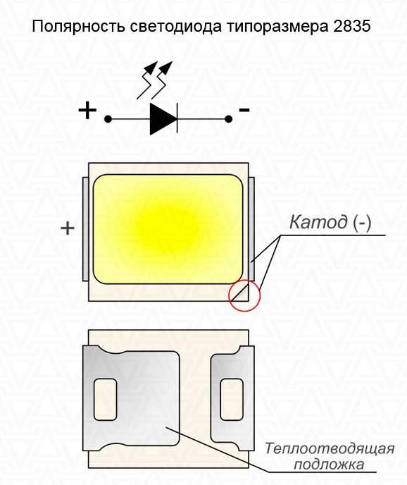 Все методы определения полярности у светодиодов