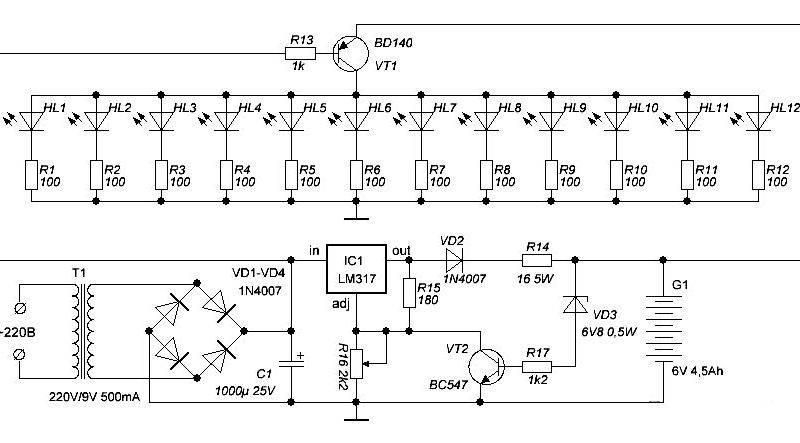 Модернизация светодиодного фонаря как заменить свинцовый аккумулятор литий-ионным