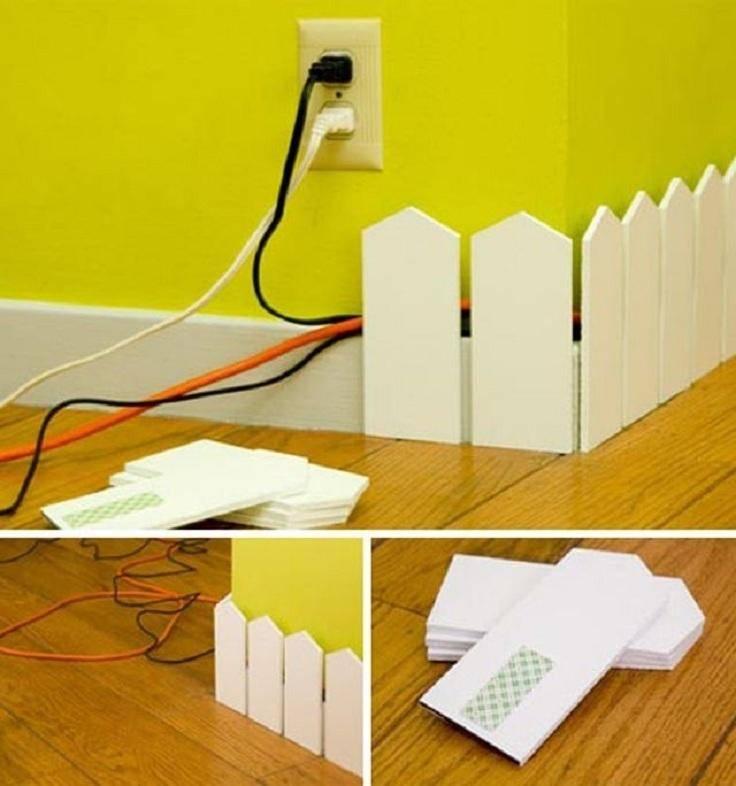 7 советов, как спрятать провода в квартире