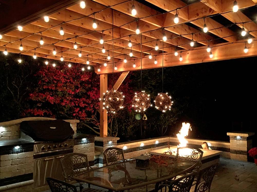 12 идей красивого освещения террасы