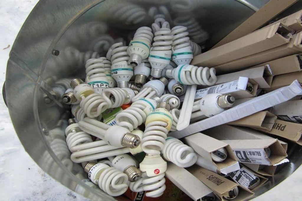Утилизация люминесцентных ламп, дрл, энергосберегающих
