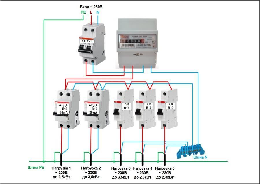 Как подключить дифференциальный автомат: рабочие схемы подключения + пошаговая инструкция