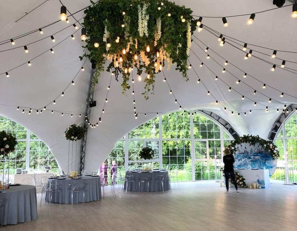Гирлянды на свадьбу своими руками, фото + видео