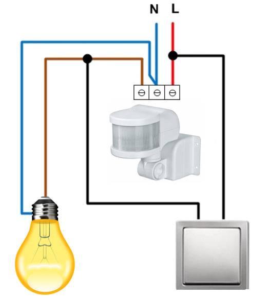 Схема подключения датчика движения - подборка схем подключения датчика движения для включения света